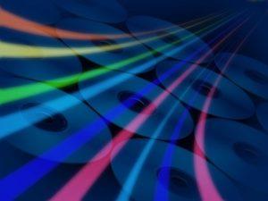 DVDと光通信のイメージ