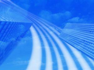 ビルネットワーク青色