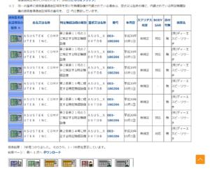 総務省適合機器検索3